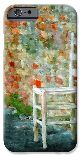 Hattiesburg iPhone Cases - Ladder Back Chair iPhone Case by Brenda Bryant