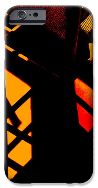 Ladder Back Chairs iPhone Cases - Ladderback Flamenco iPhone Case by Lin Haring