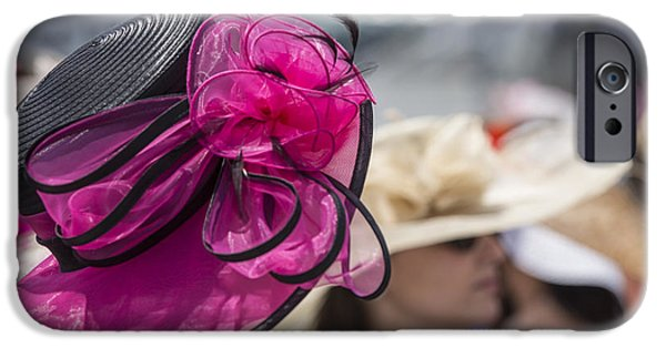 Kentucky Derby Photographs iPhone Cases - Ladies hat at 2014 Kentucky Derby  iPhone Case by John McGraw
