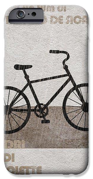 Geek Mixed Media iPhone Cases - Ladri di biciclette iPhone Case by Ayse Deniz