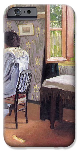 Lady at the Piano iPhone Case by Felix Edouard Vallotton
