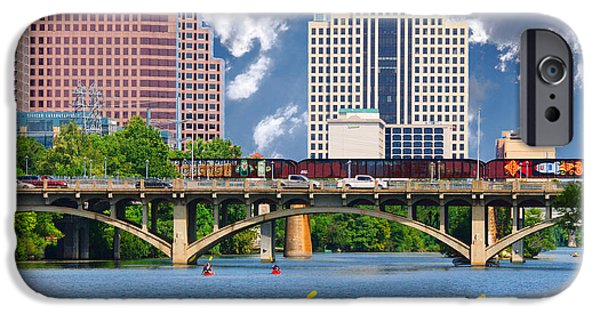 Animals Photographs iPhone Cases - Lady Bird Lake Summer Series 1 - Skyline iPhone Case by Roy Williams