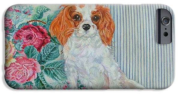 Cute Puppy iPhone Cases - Lady Bug Conroy iPhone Case by Kimberly McSparran