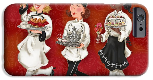 Chef iPhone Cases - Lady Chefs - Brunch iPhone Case by Shari Warren