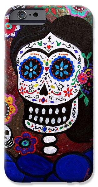 Bestfriend iPhone Cases - Lady Frida In Blue iPhone Case by Pristine Cartera Turkus