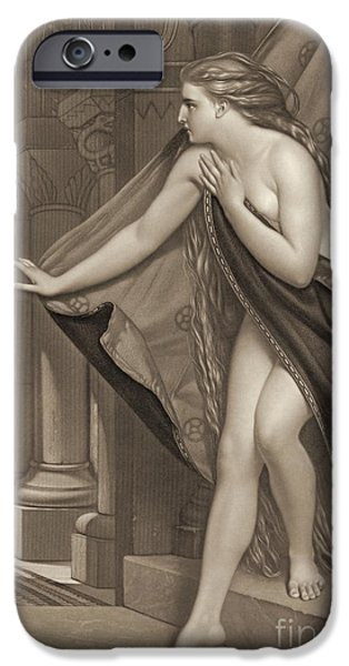 Padre Art iPhone Cases - Lady Godiva 1873 iPhone Case by Padre Art