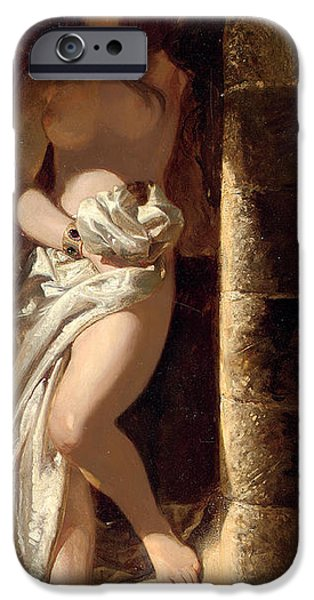 Odalisque iPhone Cases - Lady Godiva  iPhone Case by Edward Henry Corbould