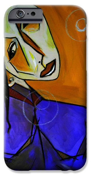 Robert Daniels iPhone Cases - Lady In Blue iPhone Case by Robert Daniels