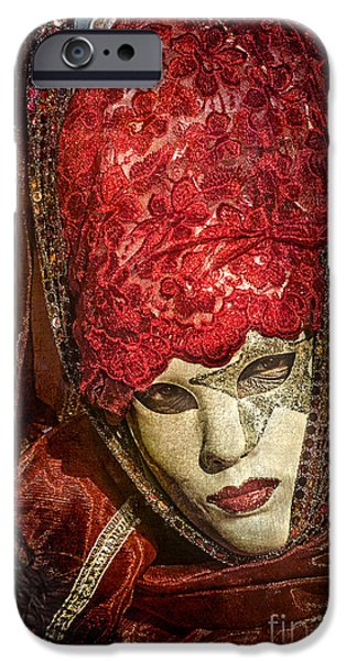 Floral Photographs iPhone Cases - Lady in red iPhone Case by Danilo Piccioni