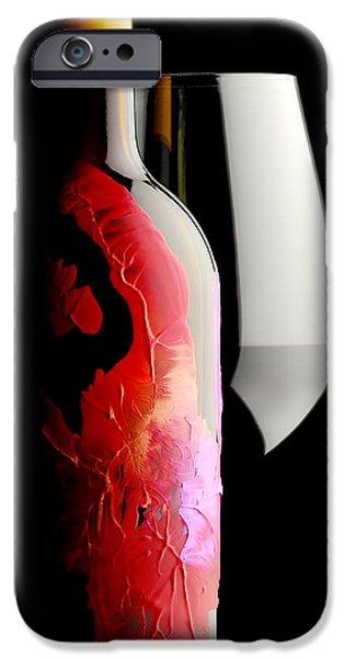 Wine Bottles iPhone Cases - Lady in Red iPhone Case by Jon Neidert