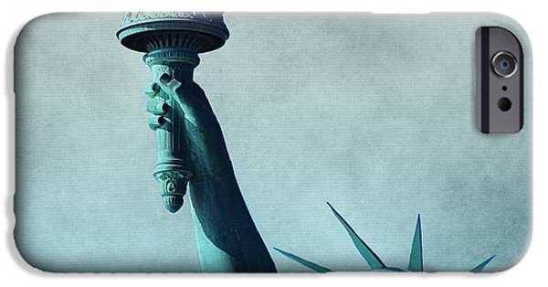 Patriotism iPhone Cases - Lady Liberty iPhone Case by Dan Sproul