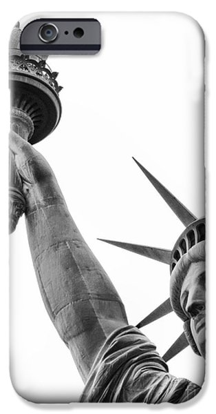 Lady Liberty iPhone Case by Eric  Kessler