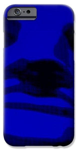 LADY LIBERTY in BLUE iPhone Case by ROB HANS