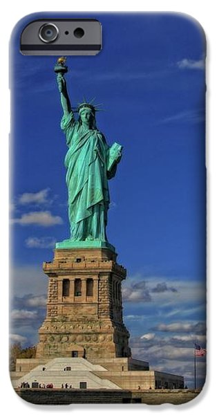 Lady Liberty In New York City iPhone Case by Dan Sproul