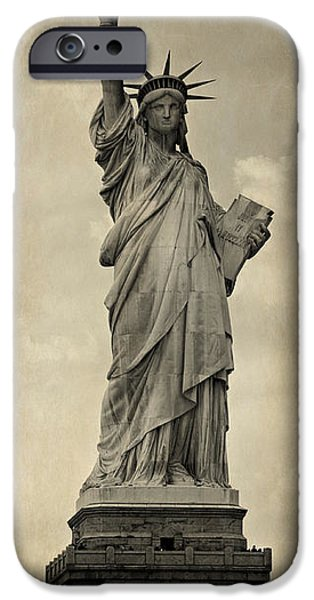 Patriotism iPhone Cases - Lady Liberty No 11 iPhone Case by Stephen Stookey