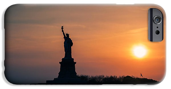 4th Of July iPhone Cases - Lady Liberty iPhone Case by Ray Warren