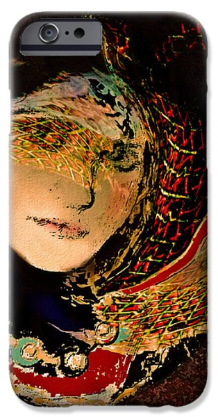 Netting Mixed Media iPhone Cases - Lady Luxe iPhone Case by Natalie Holland
