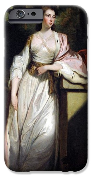 Duchess iPhone Cases - Lady Mary Isabella Somerset iPhone Case by Robert Smirke