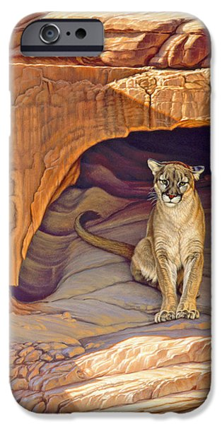 Canyons Paintings iPhone Cases - Lady of the Canyon iPhone Case by Paul Krapf