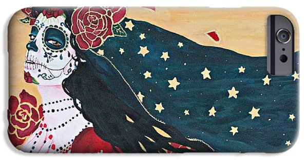 Delos iPhone Cases - Lady of the Roses iPhone Case by Sonia Orban-Price