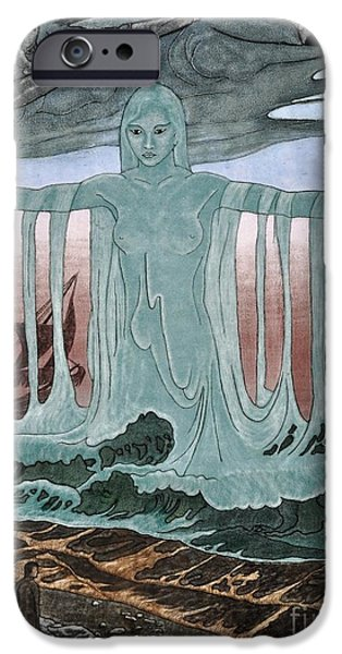Sea Glass Art iPhone Cases - Lady Of The Sea iPhone Case by Valerie Lynn