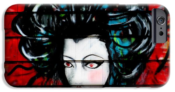 Big Hair iPhone Cases - Lady On Red iPhone Case by Randall Weidner