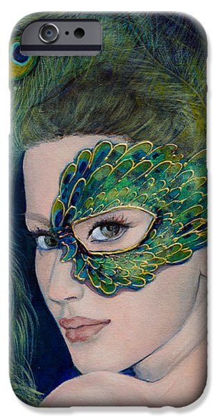 Lady Peacock iPhone Case by Dorina  Costras