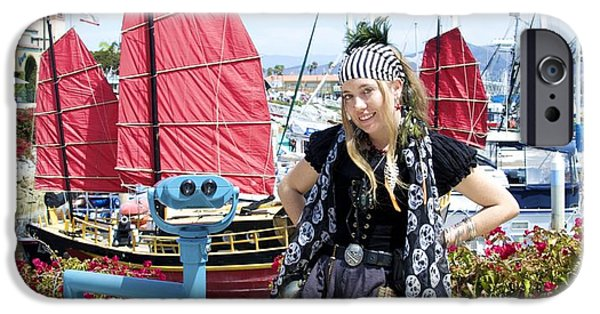Pirate Ships iPhone Cases - Lady Pirate and Friend iPhone Case by Floyd Snyder