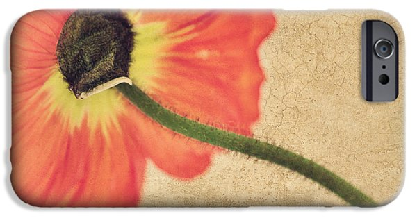 Flora Mixed Media iPhone Cases - Lady Poppy iPhone Case by Angela Doelling AD DESIGN Photo and PhotoArt