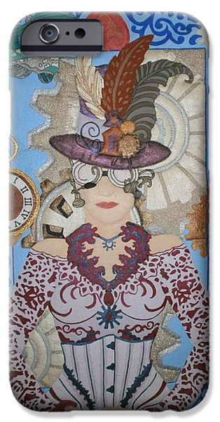 One Tapestries - Textiles iPhone Cases - Lady Punk iPhone Case by Linda Egland