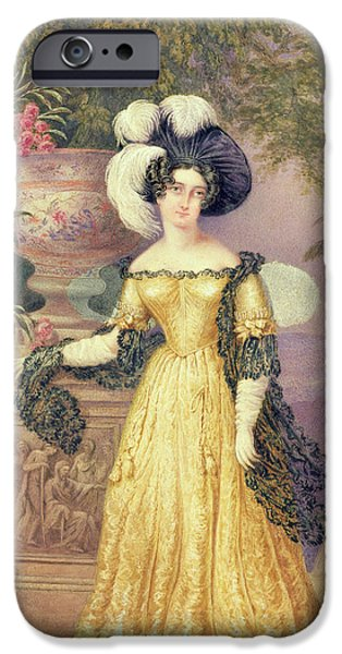 Aristocrat iPhone Cases - Lady Rowe iPhone Case by Isaac Mendes Belisario