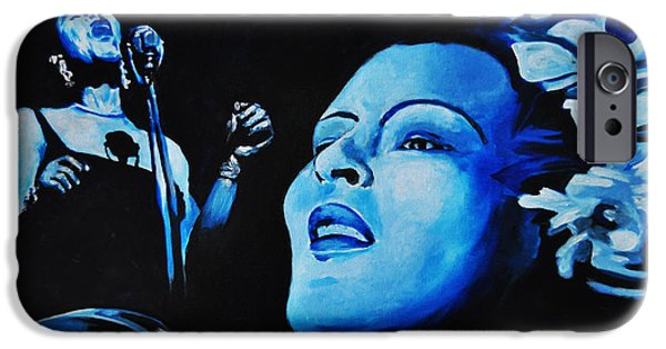 Recently Sold -  - Strange iPhone Cases - Lady Sings The Blues iPhone Case by Ka-Son Reeves