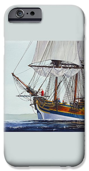 Lady Washington and Captain Gray iPhone Case by James Williamson
