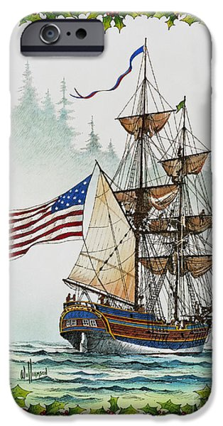 Lady Washington and Holly iPhone Case by James Williamson