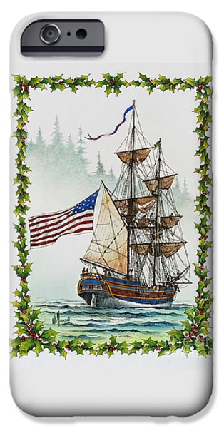 Tall Ship iPhone Cases - Lady Washington and Holly iPhone Case by James Williamson