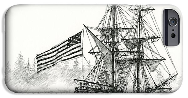 Tall Ship iPhone Cases - Lady Washington at Friendly Cove iPhone Case by James Williamson