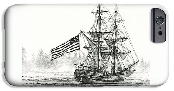 Lady Washington iPhone Cases - Lady Washington at Friendly Cove iPhone Case by James Williamson