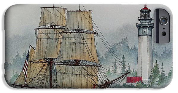 Tall Ship iPhone Cases - Lady Washington at Grays Harbor iPhone Case by James Williamson