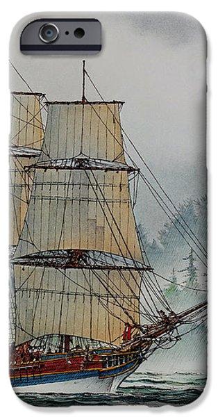 Lady Washington at Grays Harbor iPhone Case by James Williamson
