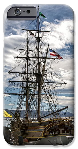 Tall Ship iPhone Cases - Lady Washington iPhone Case by Patricia Stalter