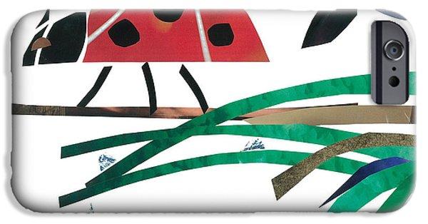 Invertebrates Mixed Media iPhone Cases - Ladybug iPhone Case by Earl ContehMorgan