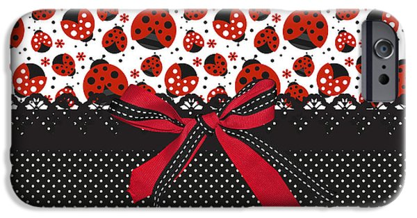 Ladybug iPhone Cases - Ladybug Energy  iPhone Case by Debra  Miller