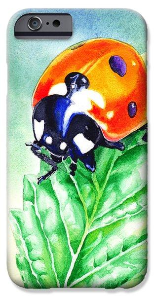 Buggy iPhone Cases - Ladybug Ladybug Where Is Your Home iPhone Case by Irina Sztukowski