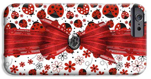 Ladybug iPhone Cases - Ladybug Magic iPhone Case by Debra  Miller