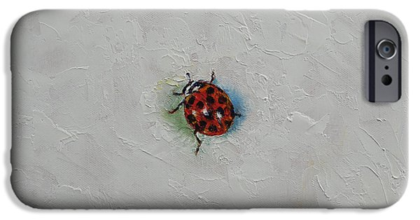 Michael iPhone Cases - Ladybug iPhone Case by Michael Creese