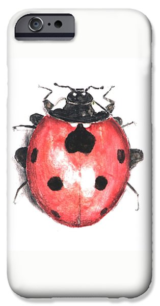 Insects Ceramics iPhone Cases - Ladybug iPhone Case by Nathan Ryan