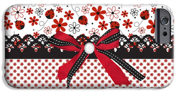 Ladybug iPhone Cases - Ladybug Whisper  iPhone Case by Debra  Miller