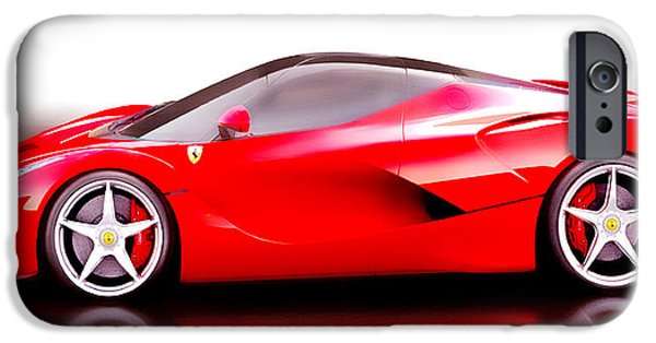 French Open Mixed Media iPhone Cases - LaFerrari iPhone Case by Brian Reaves