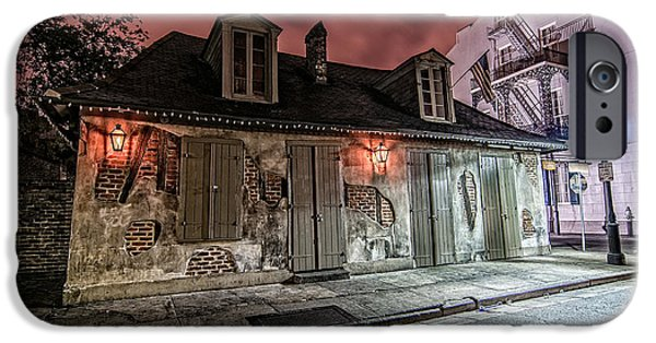Architecture iPhone Cases - Lafittes Blacksmith Shop iPhone Case by Andy Crawford