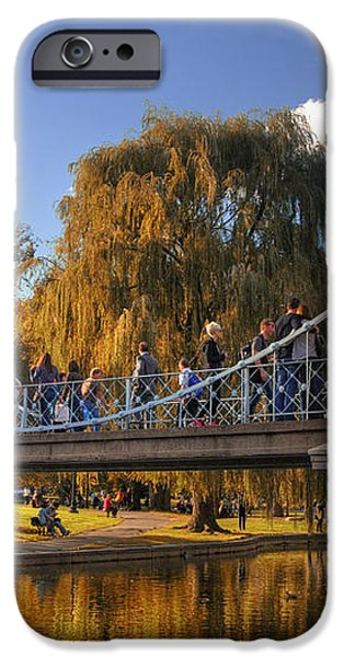 Lagoon Bridge in Autumn iPhone Case by Joann Vitali